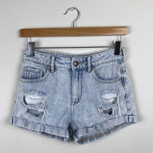 Kendall & Kylie High Waisted Denim Shorts